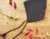 Voor GODELIEF - LENA Knit Pixie Baby Bonnet, Seamless, Merino Wool ,Unisex Baby Hat, Size 1-2 years,