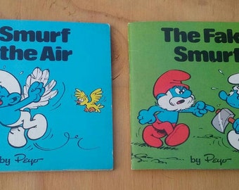 Smurf books A Smurf in the Air and The Fake Smurf