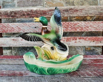 Vintage Flying Mallard Planter TV Lamp
