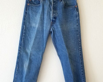 501xx Levi Jeans American Denim Made USA 33x30 Button Fly 80s