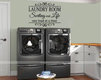 Laundry room decals | Etsy