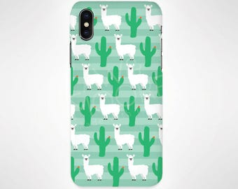 Llama Animal Phone Case for iPhone and Samsung, iPhone X, 8, 7, 6, 6s, Plus, 5s, 5c, Samsung, S8