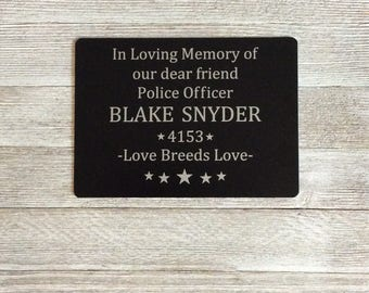 Engraved metal plaque, memorial plaques, memorial gardening sign, outdoor signs, sign for businesses, in honor of, memorials