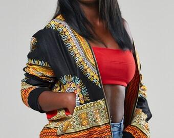 African bomber jacket, Dashiki bomber jacket, African jacket, Ankara jacket, dashiki, ankara bomber, african jacket (MARIELLA bomber jacket)