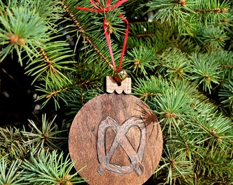 Philly Pretzel Hand-Made Wood Ornament