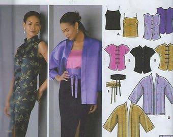 Simplicity 5343  Misses'/ Miss Petite Camisole, Top, Kimono, Skirt And Obi-Belt  Size (6-12)  UNCUT