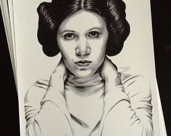 Princess Leia - Signed Print