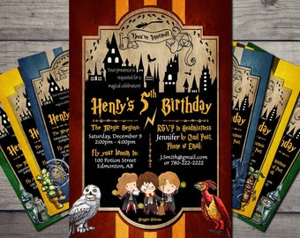Harry potter invitation Etsy