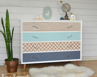 Modern Retro Four Drawer Chest of Drawers