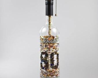Willett 80th Anniversary Bourbon Bottle Lamp/handmade/man cave/light/bourbon lamp/bottle light/liquor/bar/gifts for men/whiskey bottle lamp