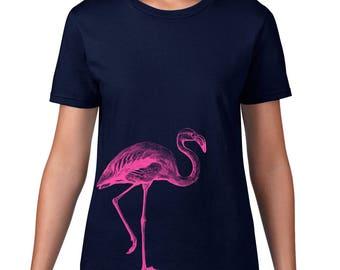 CLEARANCE FINAL SALE, Women's Flamingo Tshirt, Pink Flamingo T Shirt, Flamingo Tee, Bird, Animal Tshirt,