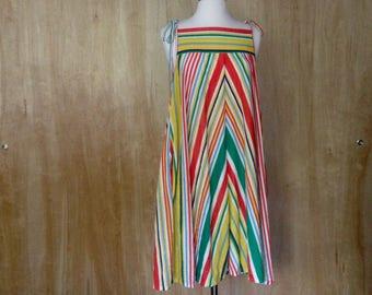 Italian Terrycloth multi stripe sundress M