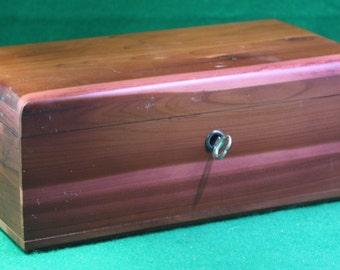 Vintage  Lane mini cedar chest - Malbin's shore shopping center with key tinker box