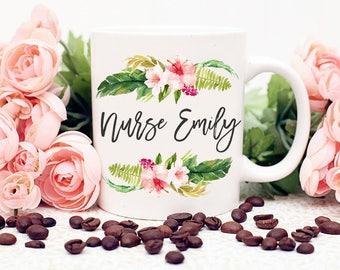 Nurse Summer Flower Bouquet Mug, 11oz or 15oz