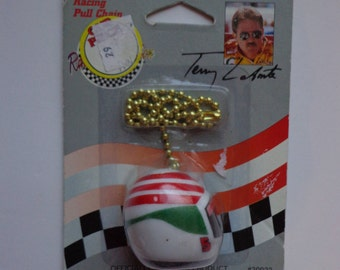 Terry Labonte Racecar Driver Racing Helmet Light Pull Chain #20022 Kellogg Company ABCO Racing Connection Collectible