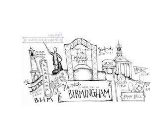 4x6 | 5x7 | 8x10 Print ~ Birmingham, AL
