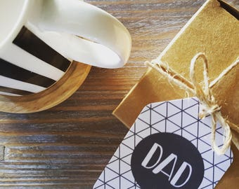 Monochrome Father's Day Gift Tags / Dad Gift Tags - FDGT01