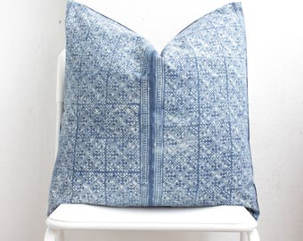 Hmong Batik Indigo Pillow Cover CL7