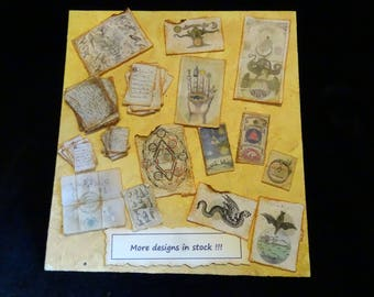 Miniature Parchments -  one inch scale - choose one (or more :))) )