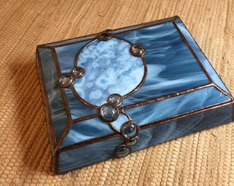 Stained Glass Box #275 Steel Blue