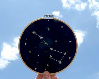 Embroidery constellation Ursa Major