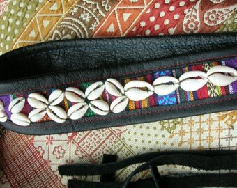 Cowrie Shells Belt**Leather belt**African Style
