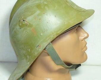 Original Vintage Soviet Union Russian Firefighter Fireman Helmet USSR 1960s