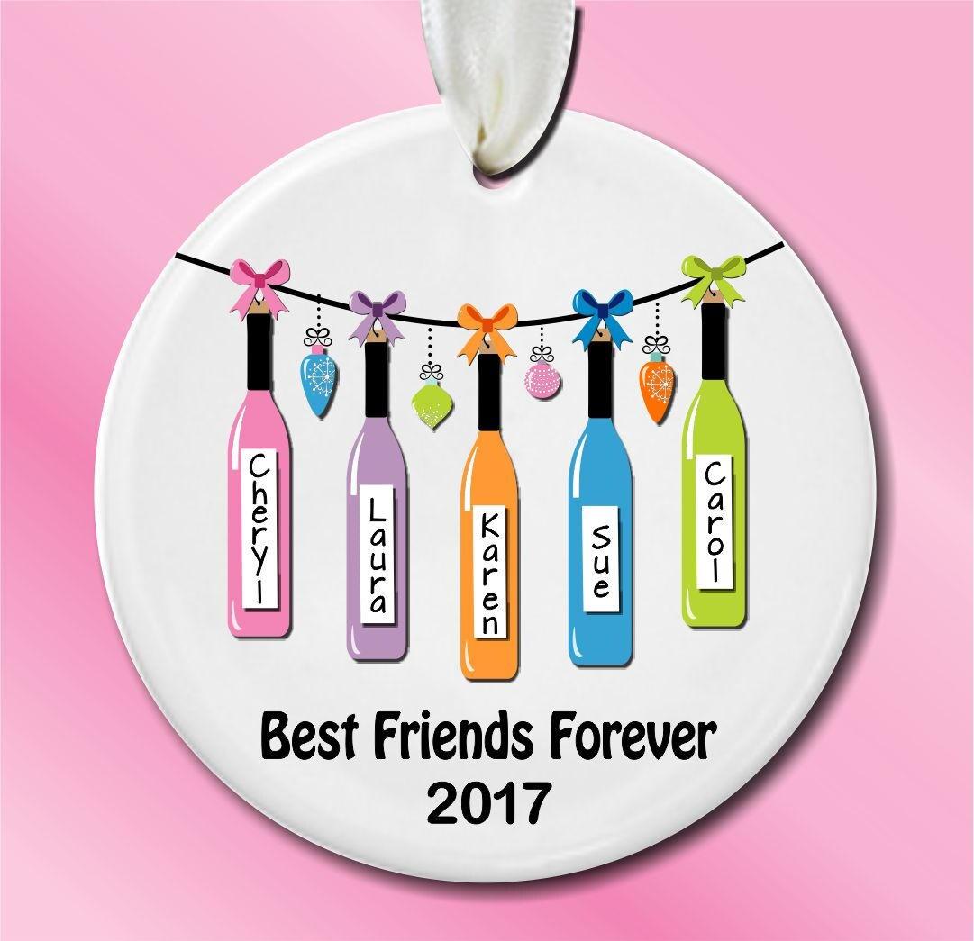 Personalized BEST FRIENDS Christmas Ornament Custom Best