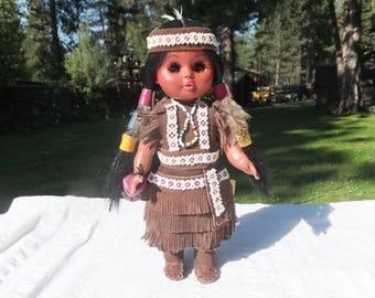 Native American Doll, Carlson Native American Doll, Winnebago Princess Doll