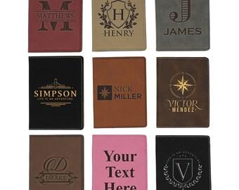 Passport Holder, Travel Passport Holder, Monogrammed Passport Holder, Travel Gifts for Men, Personalized Passport Covers Leather