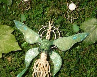 Moonlight Butterfly - handsculpted Necklace - Dark Souls - OOAK