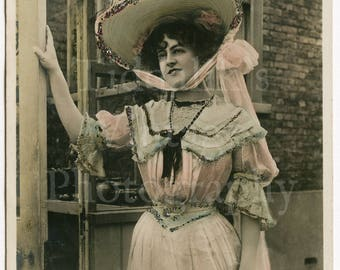 Miss Marie Studholme Edwardian Actress RPPC Postcard - Rotophot - Postmarked 1904