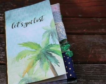 Lets Get Lost Altered Travel Journal