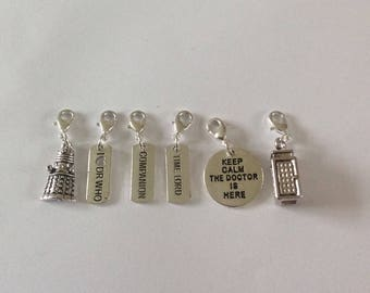 Dr who charms / zip clips