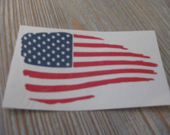 Flag Decal - American Flag Decal - Distressed Flag - Distressed American Flag - Flag Car Decal - Flag - Car Decal - American Flag