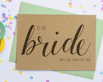 Bride To Be from Bridesmaids Postcard, To The Bride From Hens, To The Bride Wedding Day, Hen Party Bride Favours, Hen Party Bride Card