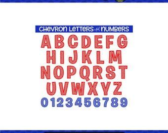 Chevron Letters SVG Chevron SVG SVG Letters Cricut Files Silhouette Files Digital Files Scan n Cut Files svg numbers chevron numbers svg