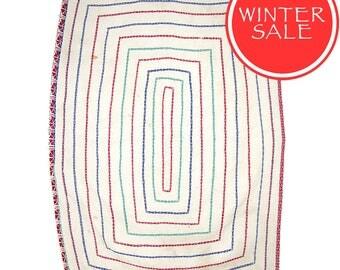 WINTER SALE - Vintage Textile - Vintage Kantha Quilt. c1950 Bengal