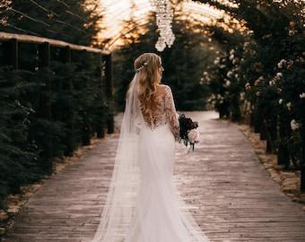 Bridal Veil Long Wedding Ivory Chapel Length Cathedral