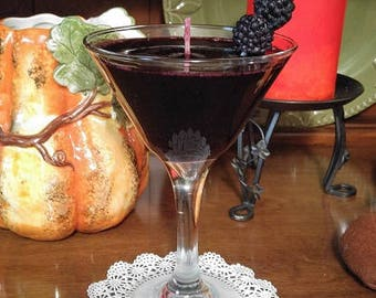 Blackberry Martini Candle made with Gel Wax