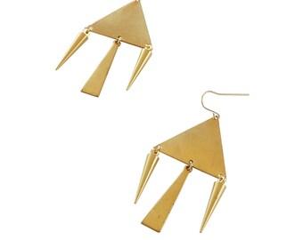 Triangle Spike Earrings; Spike earrings; Spike jewelry; Triangle earrings; triangle Jewelry; geometric Earrings; Geometric  jewelry