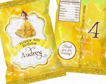 Princess Chip Bag, Treat Bag, Favor Bag - YOU PRINT
