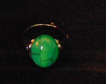 Turquoise and Sterling Silver ring....size 8
