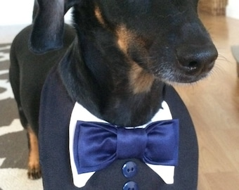 Dog Tux Bib Choose Your Wedding Colors Small, Medium, Large , X-Large, XX-Large, Xxx-Large, or Xxxx-Large