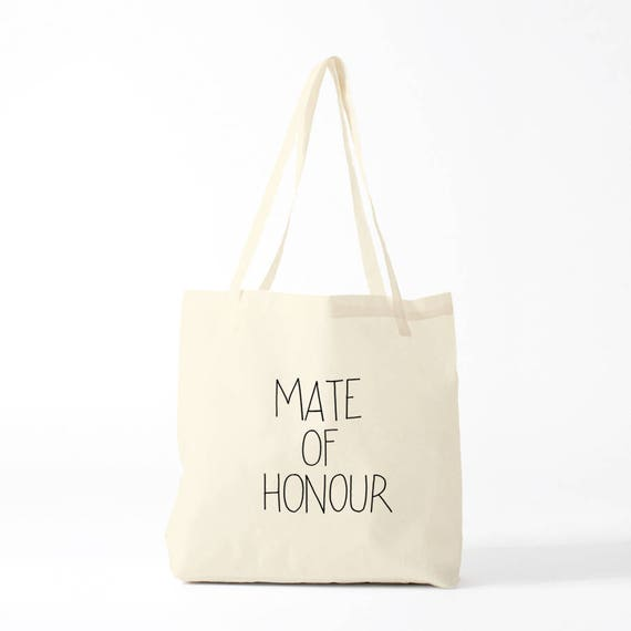 Tote bag, Mate Of Honour, wedding, canvas bag, gay wedding, lesbian wedding.
