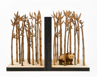 Bookends, Bamboo, Book Ends