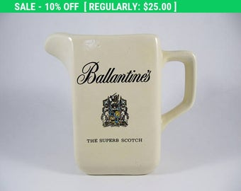 September Sale Vintage 70'S BALLANTINE'S Scotch Whiskey Ceramic Collectible Bottle Jug Jar