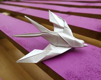 Origami Swallow Brooch