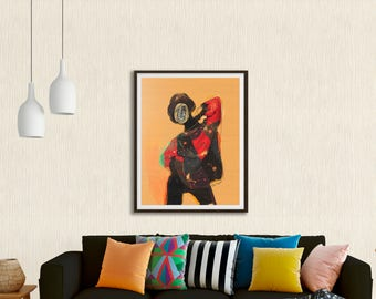 Abstract Figure INSTANT DOWNLOAD modern art, boho art, wall art print, instant download digital printable art
