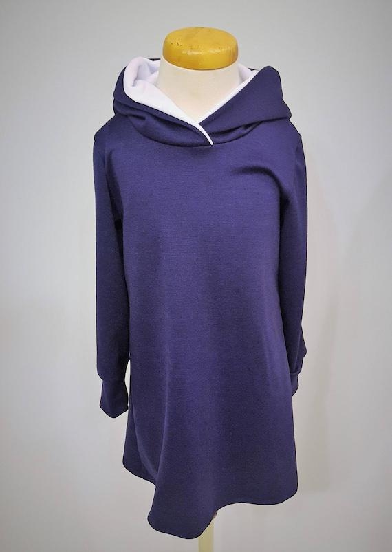 Navy Blue Hoodie Dress